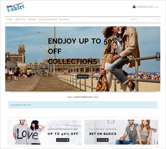 bright layout tshirt free prestashop theme