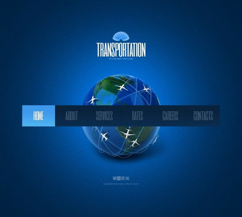 transportation flash template 788x708