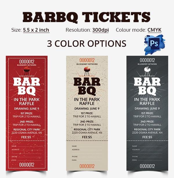 bbq ticket template free ticket template 91 free word excel pdf psd eps
