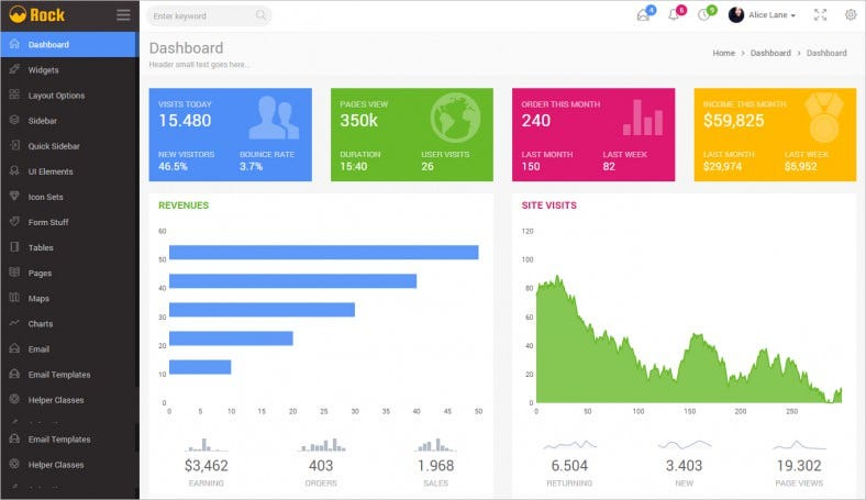 rock admin dashboard template 788x455
