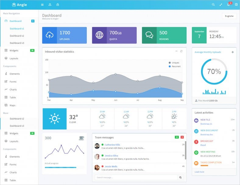 angle bootstrap admin template 788x609
