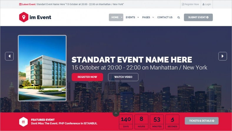 event management html template 788x444