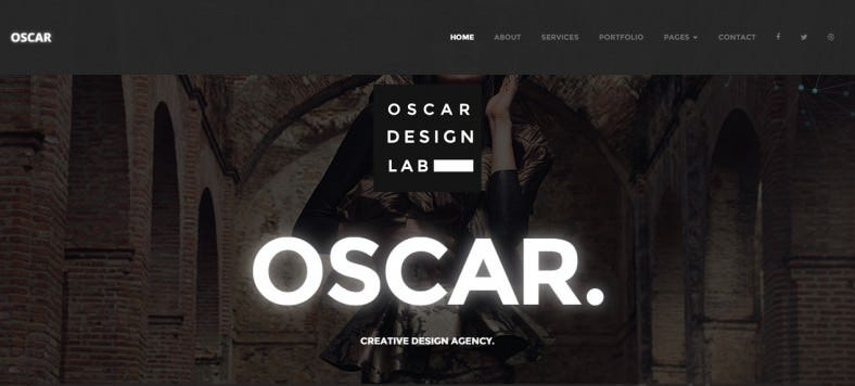 oscar minimal multipurpose parallax one page template 788x356