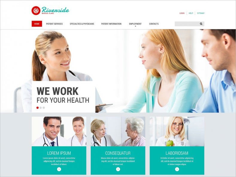 medical responsive website template 788x591