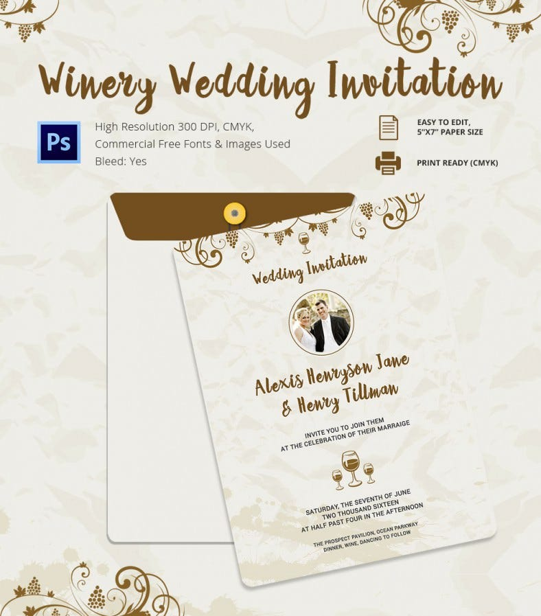 wedding invitation template 71 free printable word pdf psd indesign format download. Black Bedroom Furniture Sets. Home Design Ideas