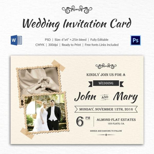 Elegant Overlay Printable Wedding Invitation Template