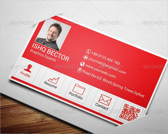 amazing premium red business card for you