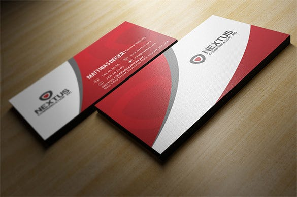 premium genral director red business card