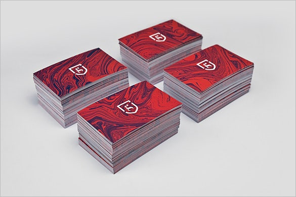 creative red business card free download