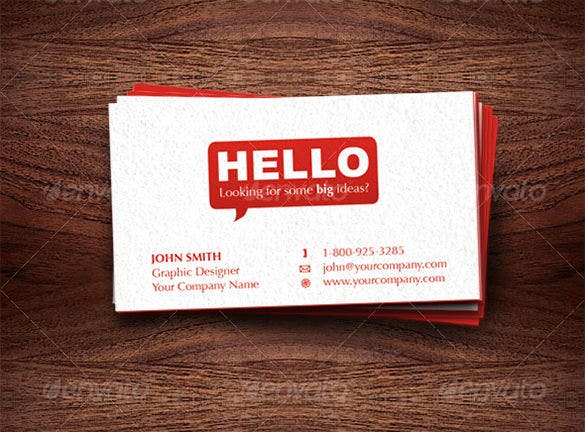 dynamic premium red business card