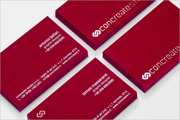 graphic designer red business card