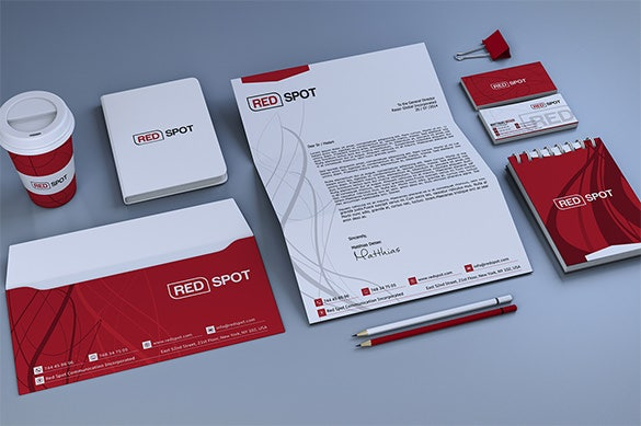 red corporate business card for premium