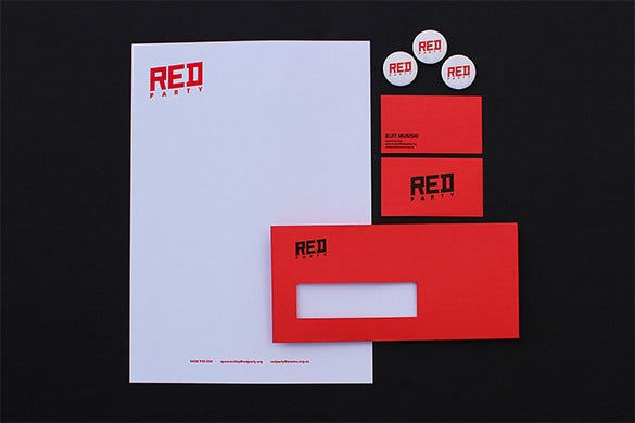 fantastic red business card download