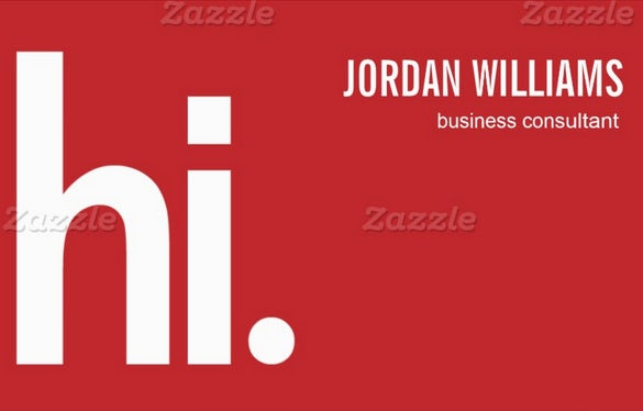 professional red business card download