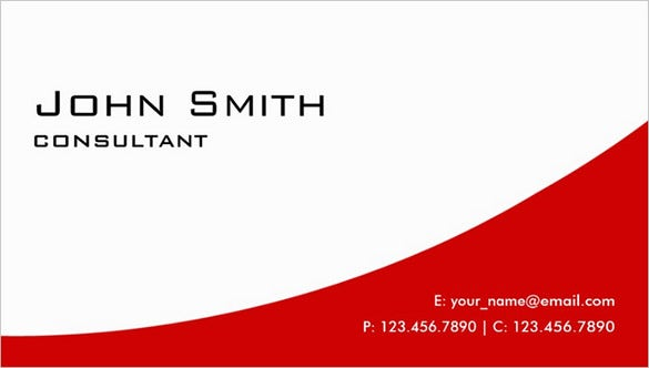 excellent modern real estate red business card