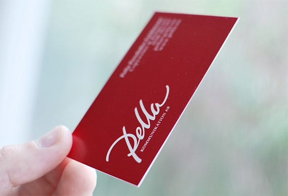 stunning free red business card for you