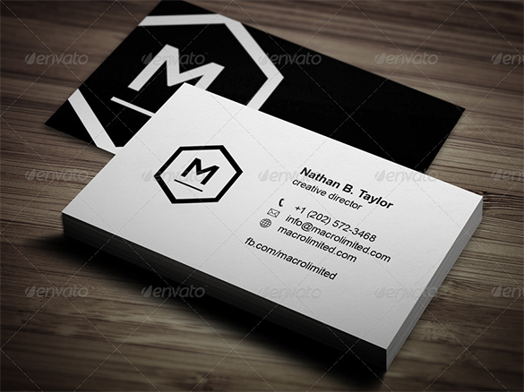 amazing premium white business card for you