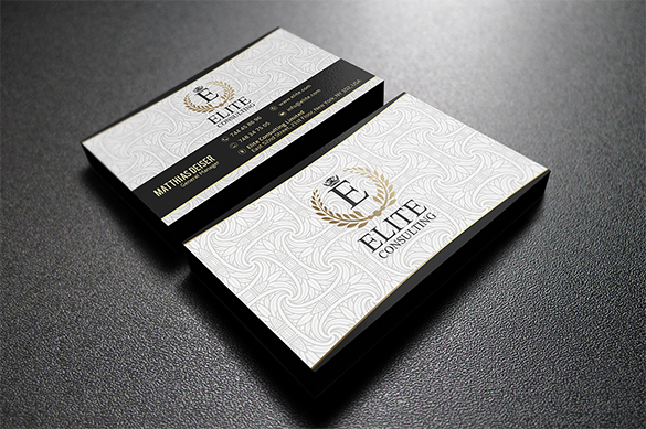 awesome white business card download