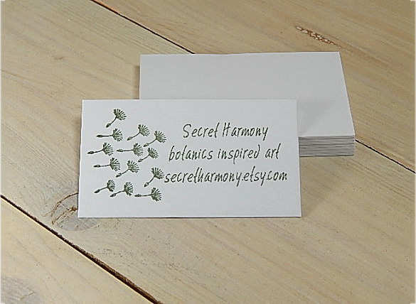 premium astonishing white business card