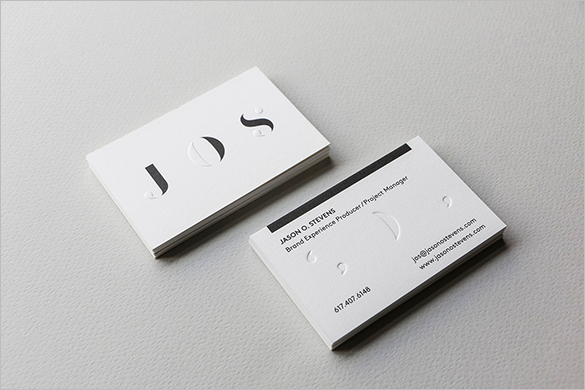 abstract white business card for download