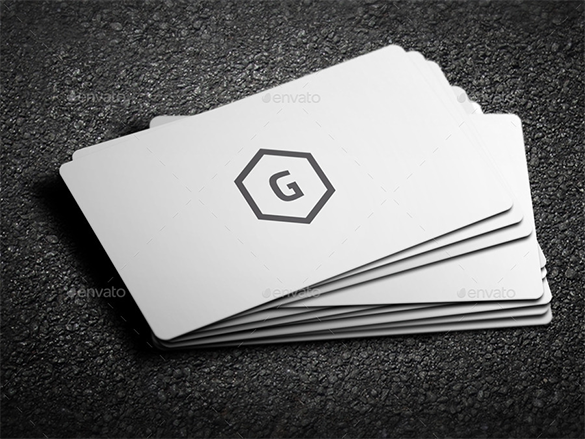 best premium white business card for download