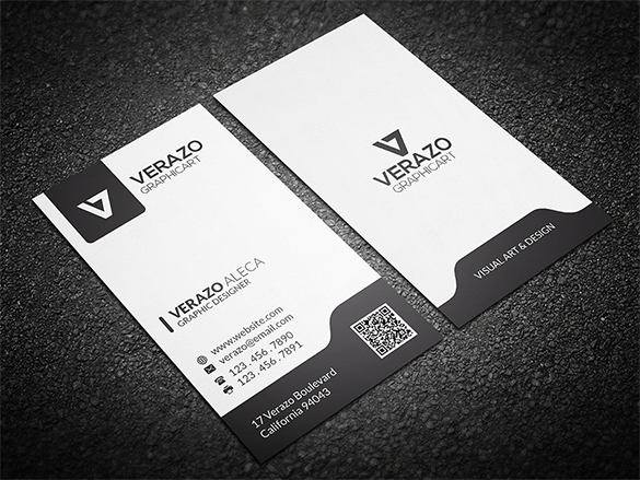 white business card premium download