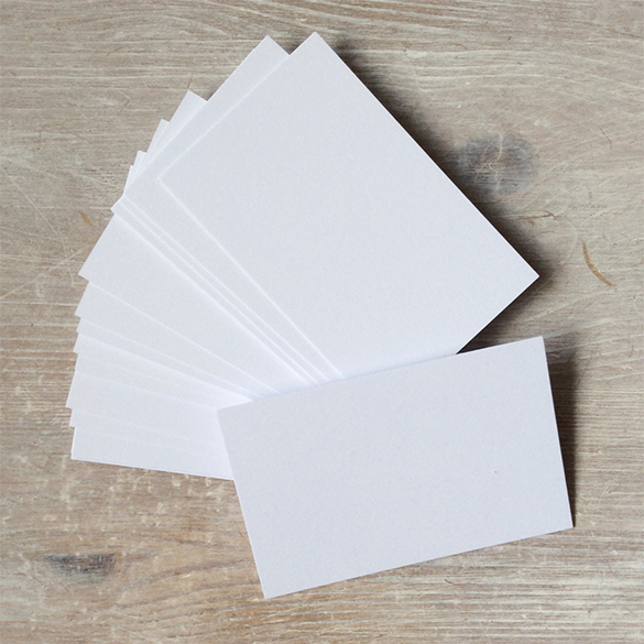 blank white business cards for you
