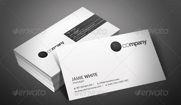 premium white business card download