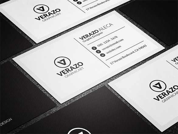 fantastic white business card download