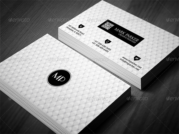 premium royal white black business card