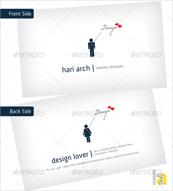 premium simple white business card
