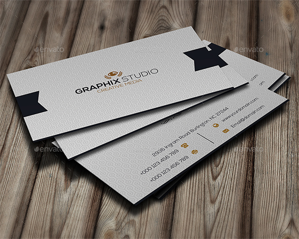 navy white business card for you