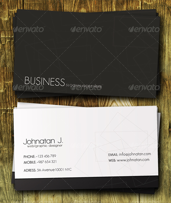 premium clasical white business card