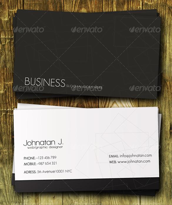 Premium Clasical White Business Card