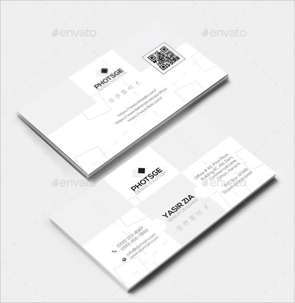 realastic white business card premium download