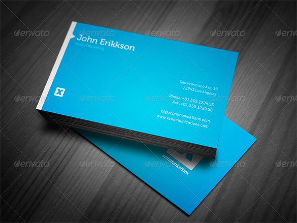 Blue Business Cards Free Printable PSD EPS Word PDF - Free business cards templates word