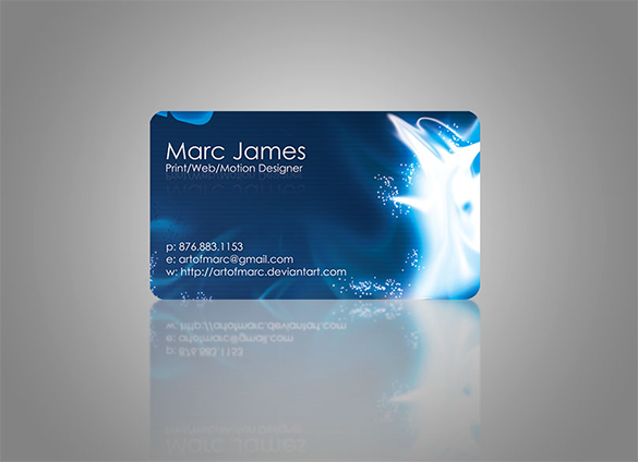 awesome stylish blue business card for free