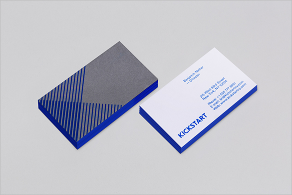 free astonishing blue business card download