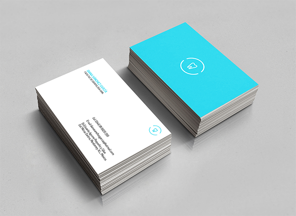 iconic blue dentist business card for free