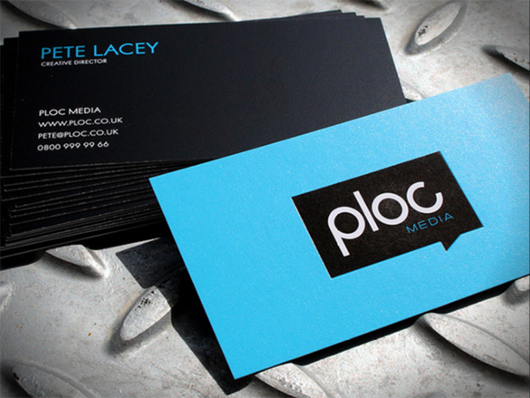 fantastic blue business card for you