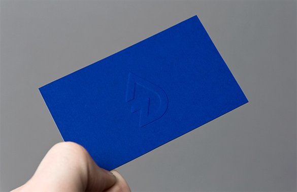 free outstanding blue business card download