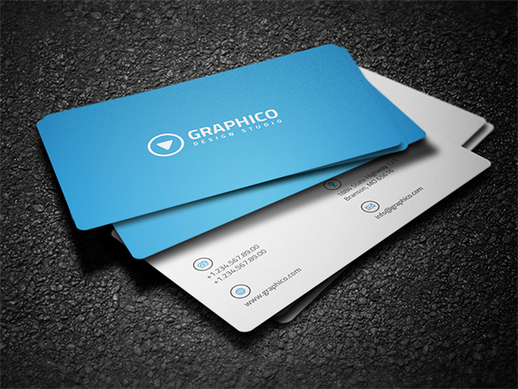 premium corporate blue business card