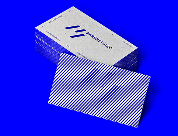 excellent blue business card for free
