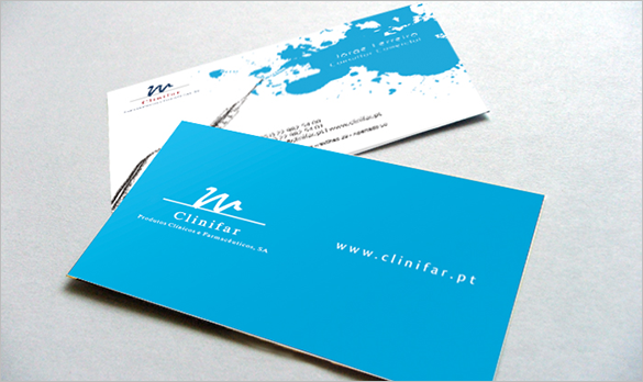 free outrageous blue business card download