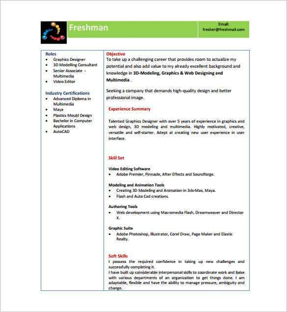 director fresher resume pdf free download - Resume Freshers Format