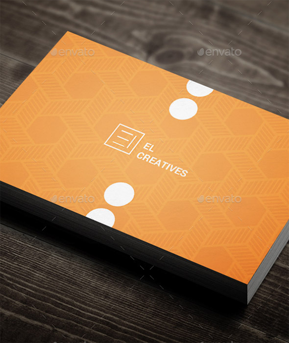 amazing premium orange business card for you