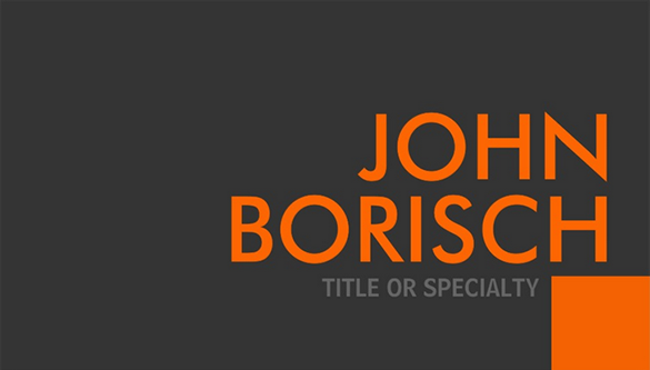 astonishing free orange business card