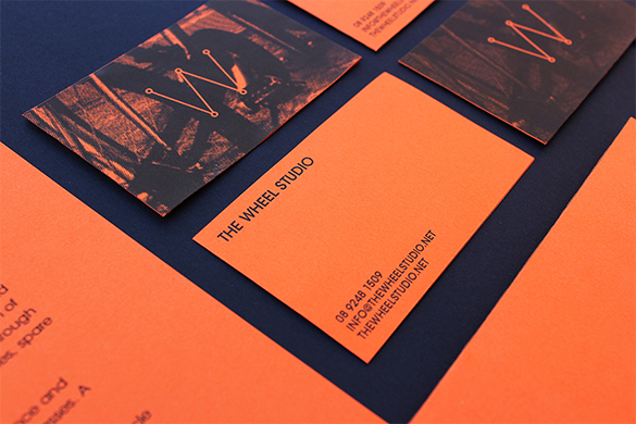 creative orange business card premium download