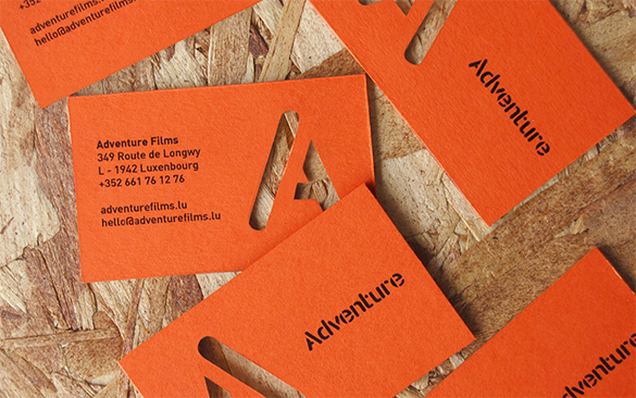 film production company orange business card