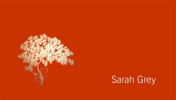 standard orange business card download